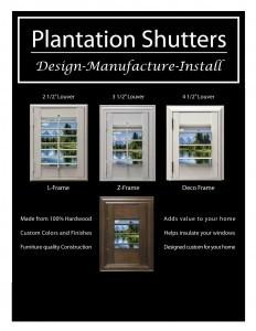 Plantation Shutter Infographic