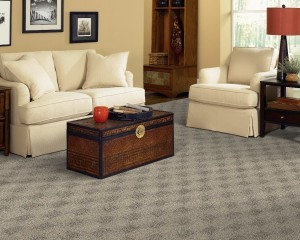 Carpet installed in a living room