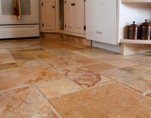 Natural Stone Tile Installed in a Kitchen