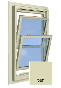 Tan Window Frame Color