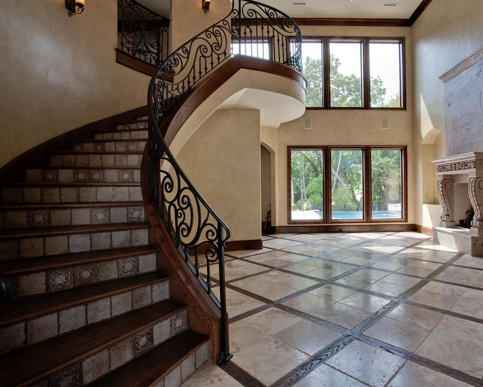 Tile Flooring and Wood Flooring
