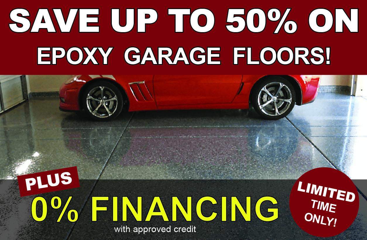 Save Upto 50% on Epoxy Garage Floors