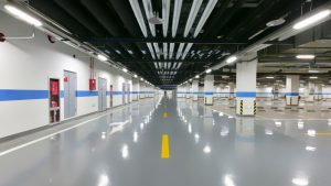 An epoxy floor provides a stable, clean flooring solution for garages and businesses.