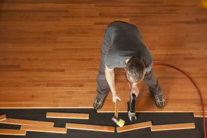 Installing new hardwood flooring is a job best left to the experts.